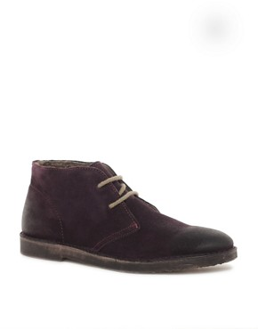 Image 1 of Selected Rugby Shearling Desert Boots