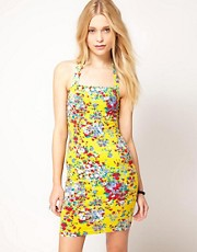 Motel Ditsy Floral Wiggle Dress