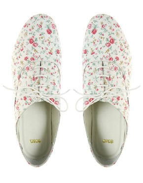 Image 3 ofASOS MEGAN Floral Printed Flat Shoe