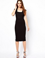 French Connection Lace Jersey Dress