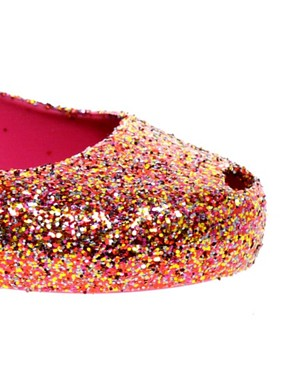 Image 2 ofMelissa Ultragirl Glitter II Ballet Flats