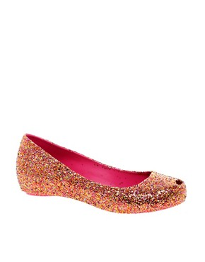 Image 1 ofMelissa Ultragirl Glitter II Ballet Flats