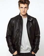 Diesel Leather Bomber Jacket