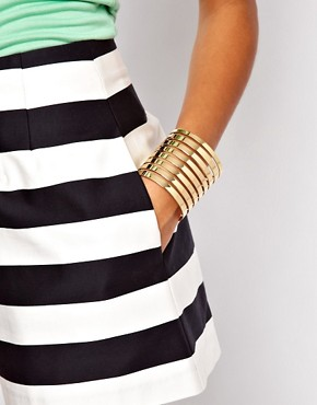Image 3 ofASOS Cut Out Stripe Cuff Bracelet