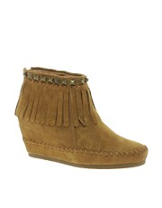 Ash Squaw Stud Wedge Ankle Boots