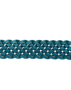 Image 4 ofASOS Teal Plait Belt
