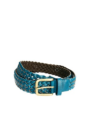 Image 1 ofASOS Teal Plait Belt