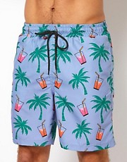 Pa:Nuu Palm Swim Short