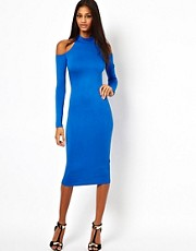 ASOS Body-Conscious Polo Cold Shoulder Dress