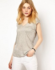 Vila Drape Back T-Shirt