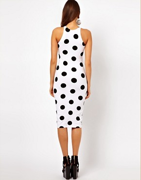 Image 2 ofMotel Zena Midi Dress In Polka Dot