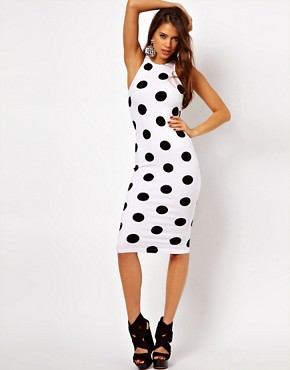 Image 4 ofMotel Zena Midi Dress In Polka Dot