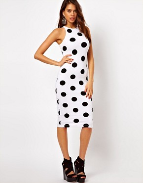 Image 1 ofMotel Zena Midi Dress In Polka Dot