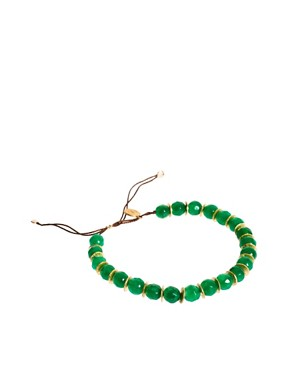 Image 1 ofNikki B Emerald Jade Friendship Bracelet