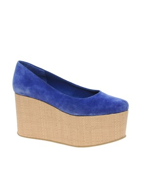 Image 1 ofASOS VALENTINE Suede Flatform Shoes