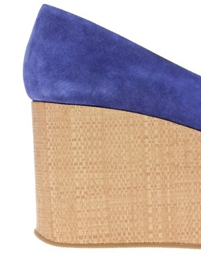 Image 2 ofASOS VALENTINE Suede Flatform Shoes