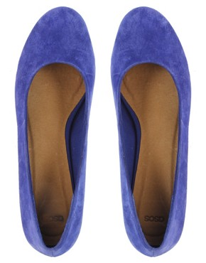 Image 3 ofASOS VALENTINE Suede Flatform Shoes