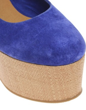 Image 4 ofASOS VALENTINE Suede Flatform Shoes