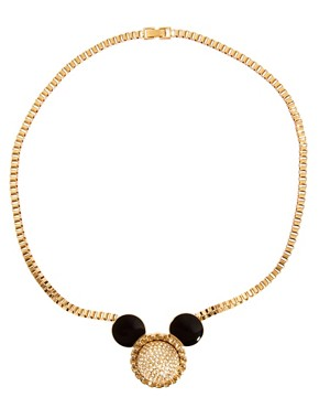 Image 2 ofMinnie Mawi By Disney Couture Mickey Ears Swarovski Crystal Necklace