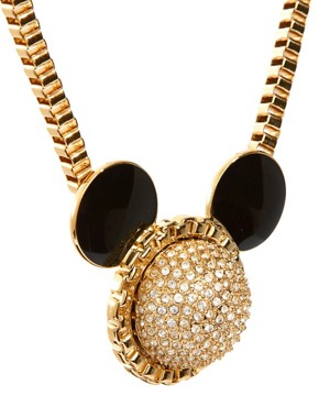 Image 4 ofMinnie Mawi By Disney Couture Mickey Ears Swarovski Crystal Necklace