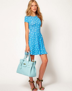 Image 4 ofASOS Skater Dress In Duck Print