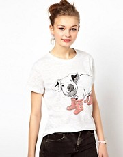 Brat &amp; Suzie Pig In Boots Burn Out T-Shirt