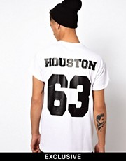 "Reclaimed Vintage - T-shirt stile baseball con scritta ""Houston"""
