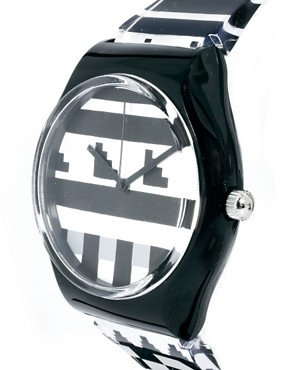 Image 3 of River Island Black Prine Plastic Slim Watch
