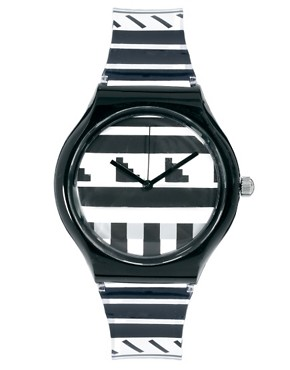 Image 1 of River Island Black Prine Plastic Slim Watch