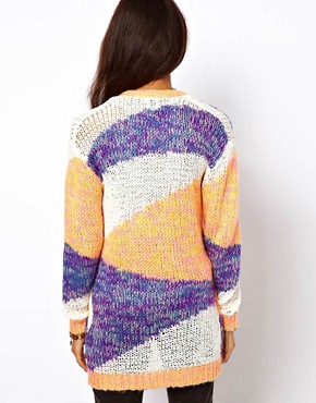 Image 2 ofASOS Edge To Edge Patterned Cardigan