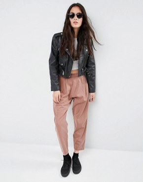 ASOS Washed Casual Tapered Peg Trousers