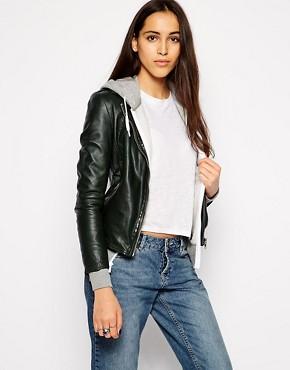 Muubaa Carmona Leather Biker Jacket