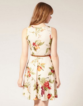 Image 2 ofPearl Fruit Print Belted Dress
