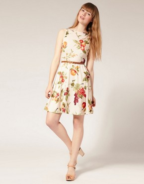 Image 4 ofPearl Fruit Print Belted Dress