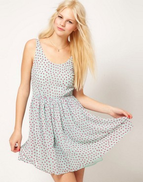 Image 1 ofASOS Mini Dress In Butterfly Print
