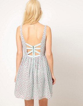 Image 2 ofASOS Mini Dress In Butterfly Print