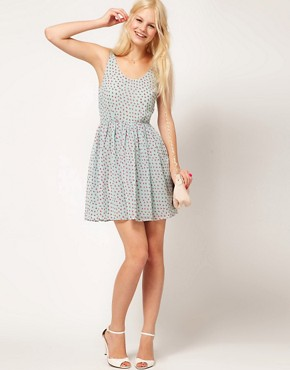 Image 4 ofASOS Mini Dress In Butterfly Print