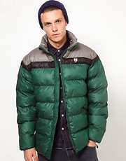 Puffa Jacket with Contrast Shoulders