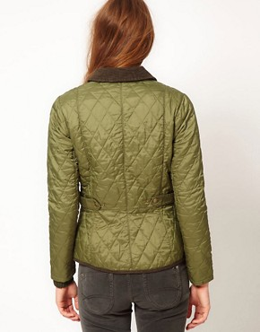 Image 2 ofBarbour Vintage Quilt Jacket In Olvine