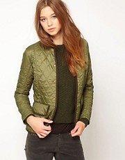 Barbour Vintage Quilt Jacket In Olvine