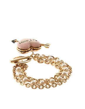Image 2 ofWildfox Gold Je T&#39;aime T Bar Bracelet