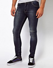 ASOS - Jeans super skinny a lavaggio scuro