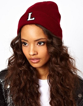 Image 1 ofASOS &#39;L&#39; Beanie