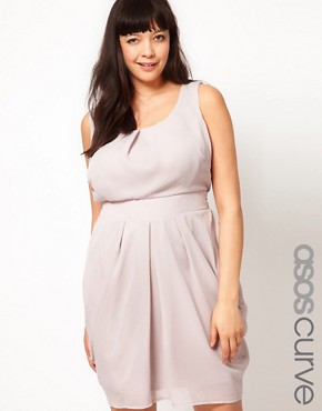 Image 1 ofASOS CURVE Tulip Dress With Tie Back