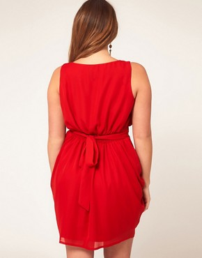 Image 2 ofASOS CURVE Tulip Dress With Tie Back