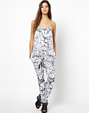 Religion Nature Jumpsuit Jewel Print