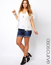 ASOS CURVE Exclusive Denim Short