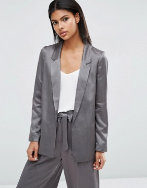 ASOS Relaxed Soft Satin Blazer