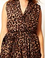 Image 3 ofASOS CURVE Exclusive Wrap Top In Animal Print