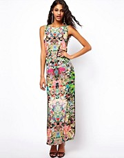 ASOS Maxi Dress In Dark Based Floral